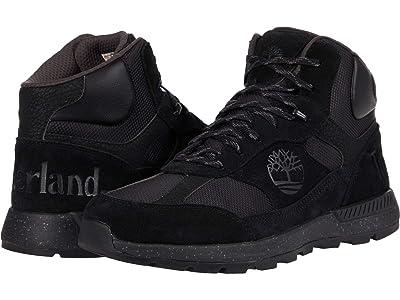 Timberland Field Trekker Mid Fabric/Leather (Jet Black) Men