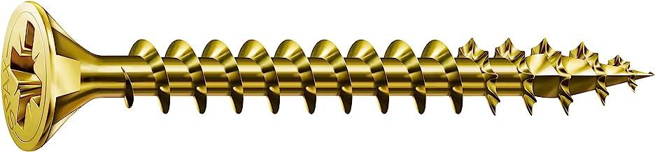 SPAX 1081020250125 schroeven verzonken kop Z, 2,5 x 12, galv verchroomd, 1000 stuks, geel verzinkt, 2,5 x 12 mm