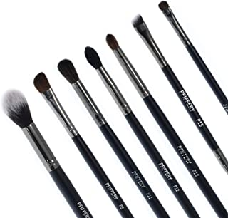 Eye Makeup Brushes, 7 Piece Professional Cosmetics Makeup Brush Set with Soft Synthetic and natural Hairs and Wooden Handles, Make Up Brush Set for Professionals for Eye Shadow, Detailing, Foundation