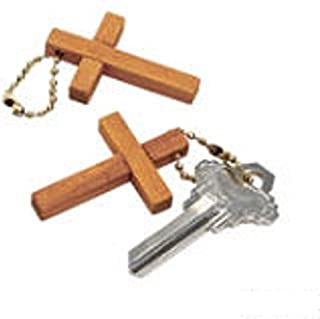 Wooden Cross Keychains (48 Pack)
