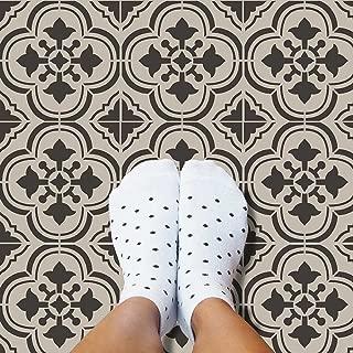 Santa Ana Tile Stencil - Cement Tile Stencils - DIY Portuguese Tiles - Reusable Stencils for Home Decor (Large)