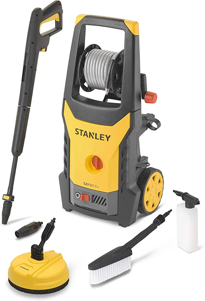 Stanley SXPW17HPE Hidrolimpiadora de Alta presión con Limpiador de Patio y Cepillo Fijo (1700 W, 130 Bar, 420 l/h)