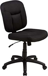 AmazonBasics Low-Back Computer Task Office Desk Chair with Swivel Casters – Black,..