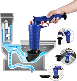 ETERNA Air Drain Blaster, Sink Plunger, Air Power Toilet Plunger,Manual Pump Cleaner,Pipe Blaster,High Pressure Plunger for Bath/Toilet/Sink/Floor Drain/Kitchen Clogged Pipe