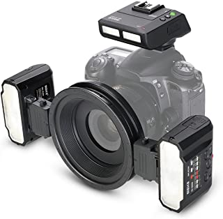 Meike MK-MT24 Macro Twin Lite Wireless Remote Flash with TTL Transceiver/Trigger for Nikon D1X D2 D80 D90 D610 D3100 D3200 D3300 D3400 D5000 D5100 D5300 D5500 D7000 D7100 D7200 Digital SLR Cameras