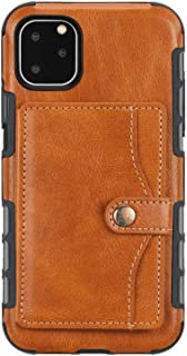 PU Leather Flip Cover Compatible with iPhone XR, Elegant orange Wallet Case for iPhone XR