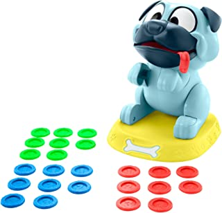 Mattel Games Puglicious Kids Game, Dog Treat-Stacking Challenge with Hungry Puppy, Gift for Kids 5 Years & Older [Amazon Exclusive], Multi