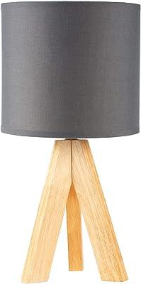 Pauleen 48104 Woody Love luminaire max. 20W E14 Scandinavian Tripod Table lamp 230V Fabric, Dark Grey, Wood