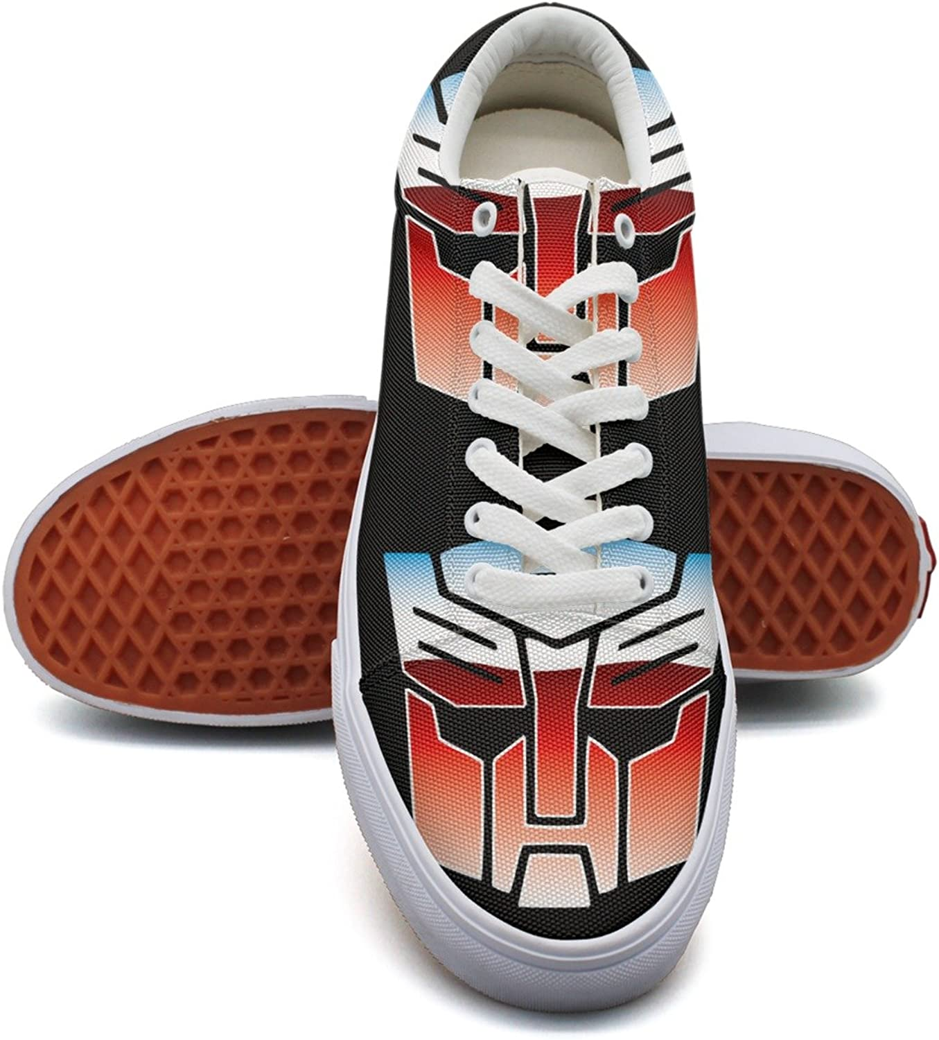 Charmarm Cool Red Skull Iron Car Man Mask Logo Womens Comfortable Canvas Sneakers
