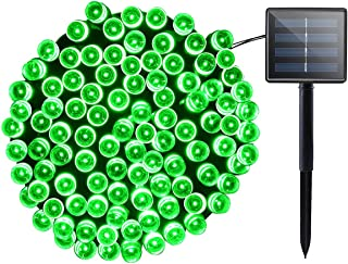 Lalapao Solar Lights Halloween Outdoor Decor 72ft 200 LED 8 Mode Solar Powered String Lights Waterproof for Indoor Garden Party Patio Home Wedding Lawn Christmas Tree Decorations (Green)