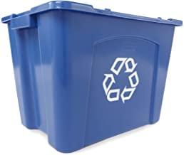 Rubbermaid Commercial Stackable Recycling FG571473BLUE