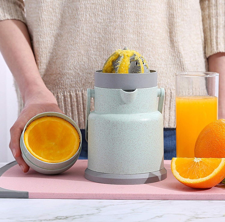 Exprimidor manual para el hogar, máquina de zumo portátil naranja talla única verde Azul