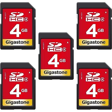 Gigastone 4GB SDカード 5枚セット UHS-I Class4 SDHC 読込速度80MB/秒 フルHD動画 高速記録