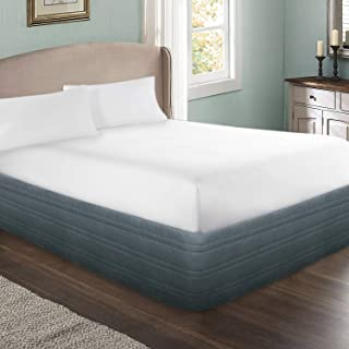 MARQUESS Polyester Blended Quilted Bed Skirt, Sagging Sense Enhanced,Anti-Wrinkle, Fade Resistant Dust Ruffle with ...