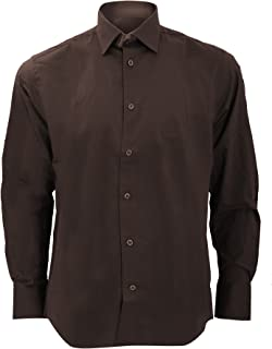 Russell Collection Mens Long Sleeve Easy Care Fitted Shirt