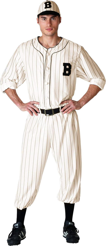 1930s Men's Costumes: Gangster, Clyde Barrow, Monster Movies Adult Vintage Baseball Costume  AT vintagedancer.com