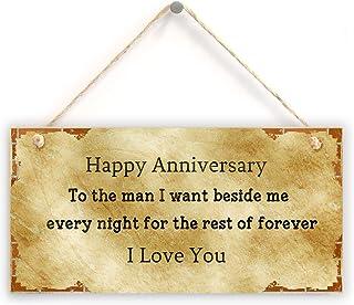 هدية الذكرى السنوية للزوج - ذكرى سنوية سعيدة للرجال الذي أريده بجانب Me Every Night For The Rest Of Forever I Love You لاف...