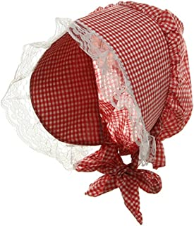 Funny Party Hats Bonnet Hat - Red and White