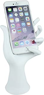 JewelryNanny Smartphone Hand Stand Phone Display Holder Universal for iPhone iWatch Android Cell Phones, White