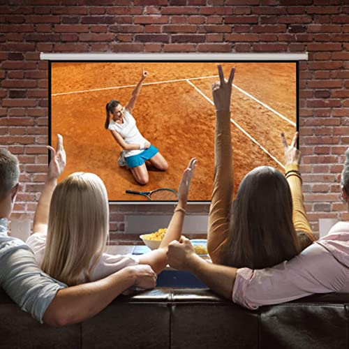 """high quality Giantex 120"""" 4: 3 Manual sale Pull Down Auto-Lock Projector Projection Screen 96""""X72"""" White high quality (HW47190) outlet sale"""