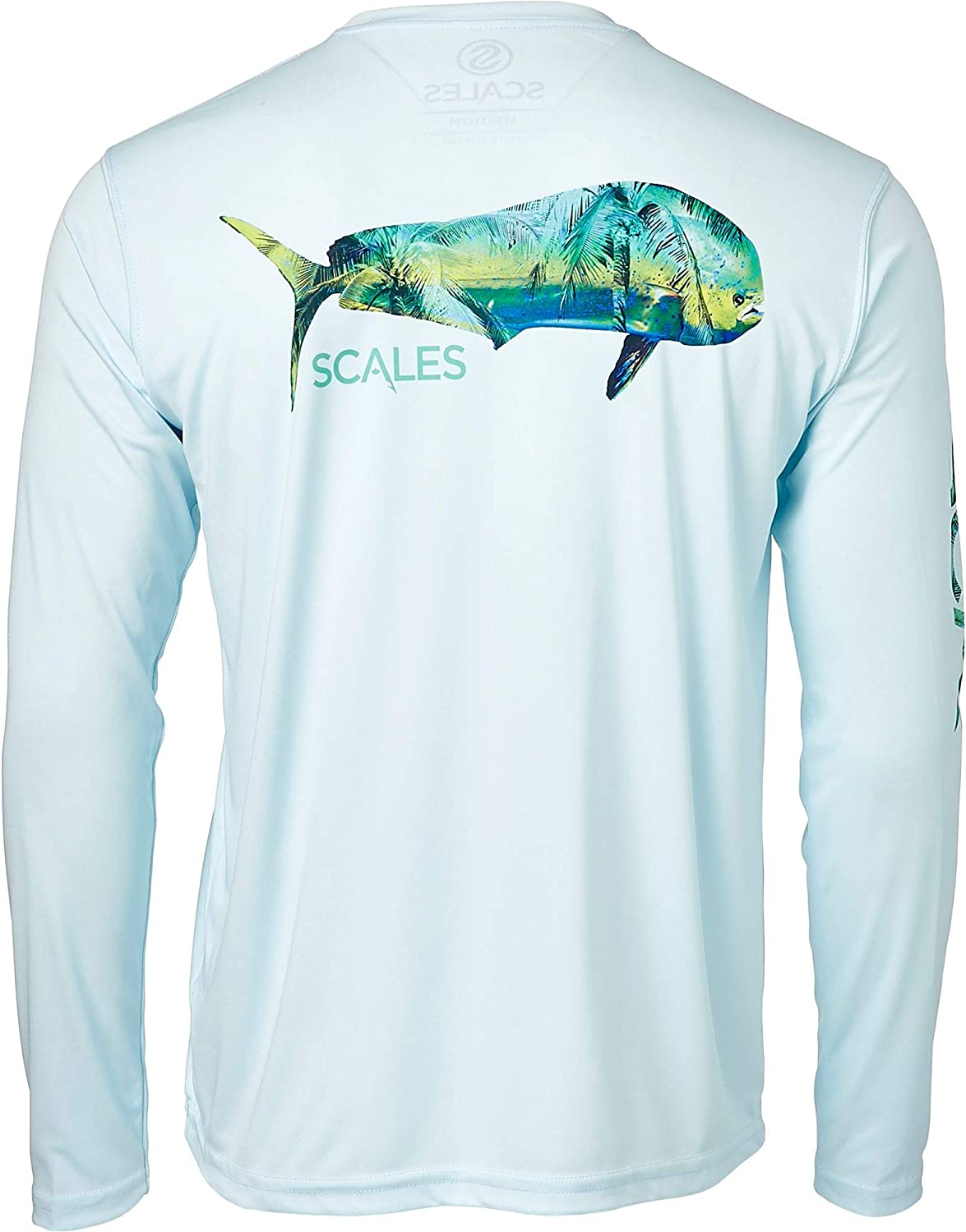 Scales Men's Tropical Mahi Super sale period limited Low price Performance in Blue Light Shirt