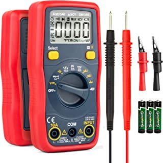 AstroAI Digital Multimeter 4000 Counts TRMS Auto-Ranging DMM/Ohmmeter/Voltmeter 1.5v/9v/12v Battery Voltage Tester with Non-Contact Voltage Function