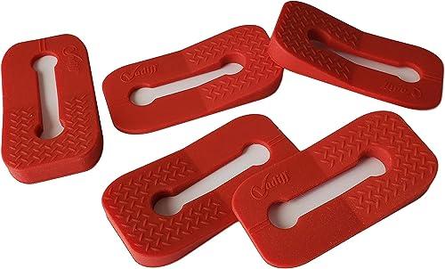 Vadiff Silicone Gas Stove Child Safety Knob Locks | Oven Knob Guard (5 Pk) (Red)