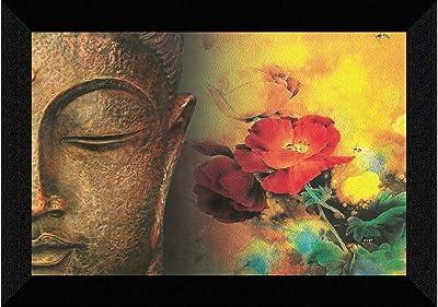 SAF Buddha modern art UV Textured Synthetic Frame Painting SAFK137