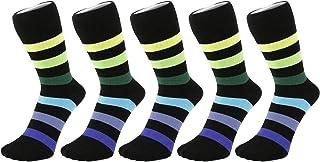 b026eb01672d6 Socquettes mini chaussettes à rayures épaisses multicolores arc-en-ciel, 6  PACK