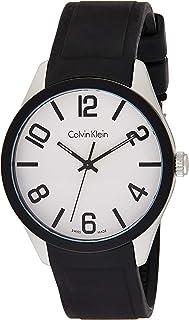 ساعة كوارتز للرجال من كالفن كلاين، بشاشة عرض انالوج وسوار من البولي كربونات