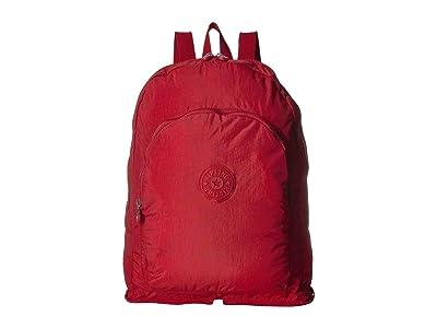 Kipling Earnest Packable Backpack (Cherry) Backpack Bags