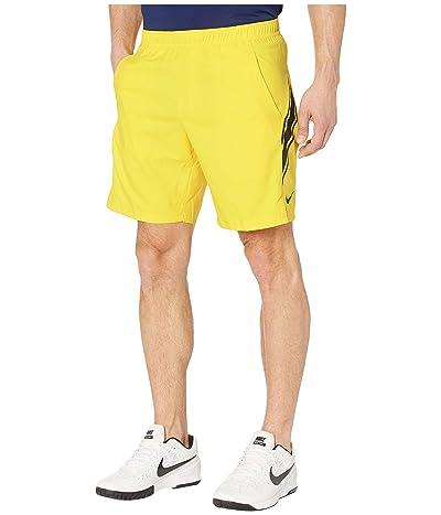 Nike NikeCourt Dry Shorts 9 (Opti Yellow/Off Noir/Off Noir) Men