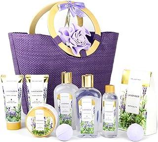 Spa Luxetique Coffret de Bain, Coffret Soins de la beauté, 10 Pièces Coffret Cadeau pour Femme, Parfum de Lavande, Cadeau ...