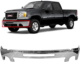 BUMPERS THAT DELIVER - Chrome, Steel Front Bumper Face Bar Shell w/Center Air Hole for 2007-2013 GMC Sierra 1500 2500 3500 Pickup 07-13, GM1002834