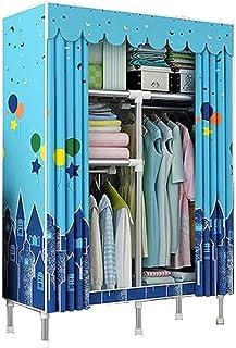 Garde-robe XINYALAMP Armoire de Montage pour vêtements Suspendus Armoire Tube en Acier Tissu Tissu Art Stockage Tout Steel...
