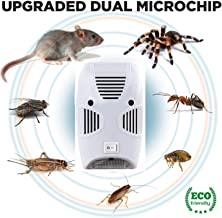 Emmelyn Electronic Home Pest & Rodent Repelling Aid for Mosquito, Cockroaches, Ants Spider Insect Pest Control Electric Pest Repelling Aid Magnetic Ultrasonic Indoor Rat Sensor
