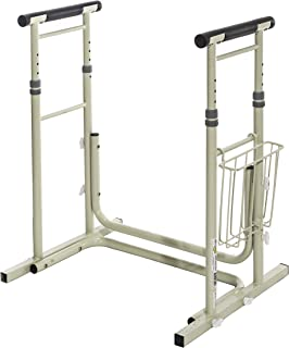 Essential Medical Supply Height Adjustable Standing Toilet Safety Rail with Foam Handles