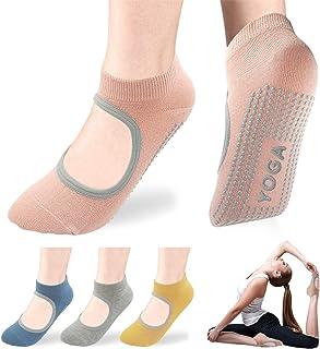 Pilates Socks Barre Socks, Yoga Socks for Women Non-Slip Grip Socks, Ideal for Ballet, Barefoot Workout, Dance, Fitness
