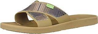 Sanuk Women's Beachwalker Slide TX Sandal, Tan Multi Fade, 6 M US