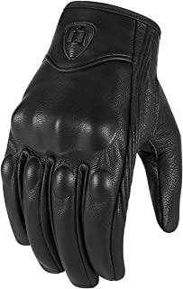 Icon Pursuit Touchscreen Men's Leather Street Racing Motorcycle Gloves - Stealth / 2X-Large