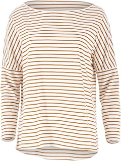 Boho Bird Womens Tees Lazy Day Cotton Tee Ruststripe - Tops