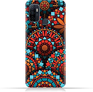 AMC Design TPU Mobile Case Cover for Oppo A53 with Geometrical Mandalas Pattern