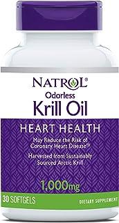 Natrol Omega-3 Krill, 1,000 mg, 30 Softgels (Pack of 1)