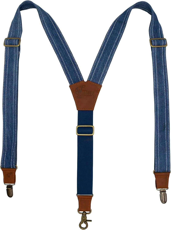 Suspenders Edition Amsterdenim Light Blue Denim Wide 1.36 inch   Wiseguy Original