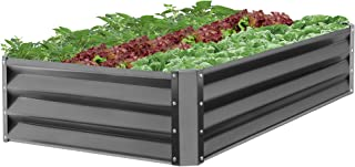 Best Choice Products 47x35.25x11-inch Outdoor Metal Raised Garden Bed Box Vegetable Planter for Growing Fresh Veggies, Flowers, Herbs, and Succulents, Dark Gray