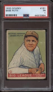 Best 1933 goudey babe ruth psa Reviews