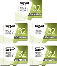 Silicon Power 32GB 5-Pack High Speed MicroSD Card with Adapter