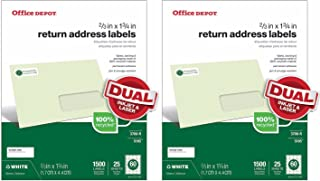 "Office Depot (TM) Return Address Labels for Laser and Inkjet Printers, White, 2/3"" x 1-3/4"", 60 Up, 50 Sheets (3000 Labels)"