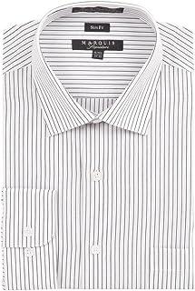 Marquis Men's Pin Striped Slim Fit Dress Shirt