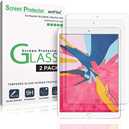 amFilm Glass Screen Protector for iPad Air 10.5 inch (2019), iPad Pro 10.5 (2017) (2 Pack) Tempered Glass, Apple Pencil Compatible